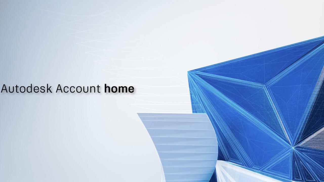 Adsk account home